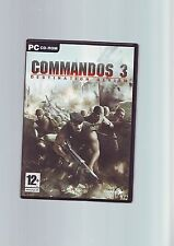 COMMANDOS 3 DESTINATION BERLIN-PC GAME-Veloce Post-ORIGINAL & completamente COMPLETO