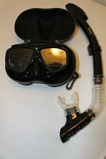 TDS Dive/Snorkel Mask - Black with Dry Black Snorkel- Model 99-8 Free Case!