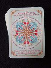 VINTAGE 1920's PACK WIDE ADVERTISING PLAYING CARDS - CWS CO OPERATIVE SOAP