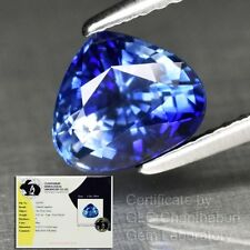 1.83ct 7.5x6.5mm Clean Pear Natural Blue Sapphire Ceylon, Heated Only *Certified