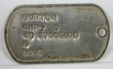 Original Authentic South Vietnam War USA Military G I  Dog Tag BURTON GARY