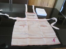 Pandora Charm Apron New Authentic retired RARE pink iconic breast cancer ribbon