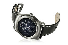 LG Watch Urbane Smartwatch - Silver Stainless Steel Case - Black Classic Strap