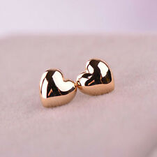 Gold Silver Polished Puffed LOVE HEART Small Earring Stud Jewelry Earring Gift