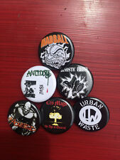 """1.25"""" NYHC pin back button set of 6 Madball Agnostic Front Antidote Abused"""