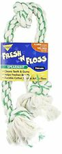 Booda Fresh N Floss 3 Knot Tug Rope Dog Toy, X-Large, Spearmint , New, Free Ship