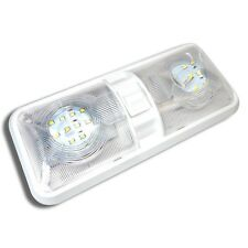 NEW RV LED 12v CEILING FIXTURE DOUBLE DOME LIGHT FOR CAMPER TRAILER RV MARINE