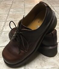 Dr. Doc Martens England Brown Leather Lace Up Shoes 8461 Women's US 7