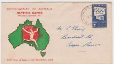 Stamp Australia 2/- Olympic Games issue Standard Stamp Co runner cachet FDC