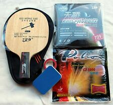Penhold Grip backhand strike practice: Custom-Made Table Tennis Bat, OZ Seller