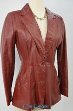 OPERA Vintage 70's Leather Hipster Jacket car coat thin quilt JACKET VTG SIZE 7
