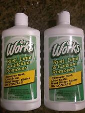 THE WORKS RUST LIME SCALE CALCIUM HARD WATER STAIN REMOVER 2 PK FREE SHIPPING