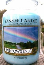 "SET OF 6 Yankee Candles  22 oz .""RAINBOWS END"" Rainbow's End  NEW! ~ WHITE LABEL"