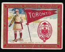1910 T51 Murad COLLEGE SERIES (101-125) -University of Toronto (Snowshoeing)