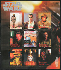 Souvenir sheet of 9 MNH stamps STAR WARS movie cinema 0031