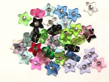 100 x 9mm Acrylic Star Foil Beads Mix Jewellery H127