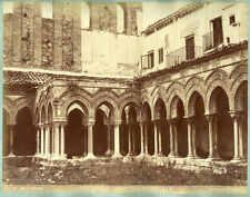 2 Photos Albuminés G. Incorpora et R. Rive Palermo Pompéï Italia Vers 1870