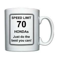 Honda - Speed Limit - Personalised Mug Christmas/Birthday/Joke/Funny