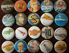 Thunderbirds Fireball XL5 Stingray Joe 90 Captain Scarlet Button Badges x 20 :0)
