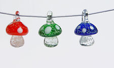 Glass Mushroom pendants Glow in the Dark for jewelry crafts necklaces bracelets