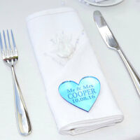 Personalised Wedding Favours Table Centerpieces Decorations Place Settings Heart