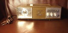 Vtg Lloyd Solid State 2 Speaker Faux Wood Mid-Century Antique Alarm Clock Radio