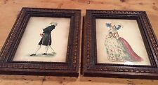 Two Vintage 1790 Fashion Plate Illustrations - Wood Framed Lithographs