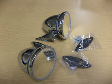 PAIR OF CLASSIC CHROME BULLET MIRRORS MINI MGB ETC