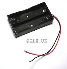 2x Two Slots18650 Battery Case Holder Mobile Battery Box with Wire Leads BEST UK