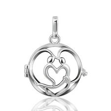 Harmony Chime Ball Locket Cage Pendant Necklace For Angel Caller Mexican Bola