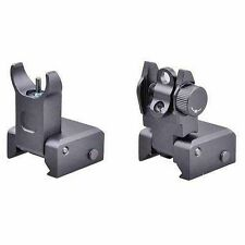 Ar Tactical Flip Up Iron Sights Set 2 Steel Rear Front Sight 15 Picatinny Rail