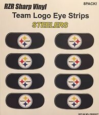 Pittsburgh Steelers NFL Football Logo 8 Pack Eye Strip Vinyl Game Face Sticker