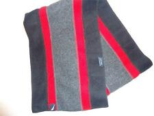 Nautica Long Grey/Black/Red Fleece Scarf