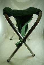 Vintage Hunting Camping Fishing Portable Fold Up Travel Chair Seat Green TWO