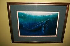 """Gentle Spirits"" George Sumner Limited Edition Print. 608/750. Whale & Calves."
