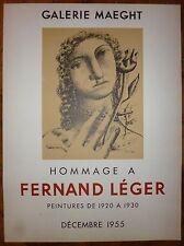 Leger Fernand Affiche en lithographie 1955 art abstrait abstraction cubisme