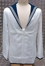 Authentic British Royal Navy Class II Middy Seaman's Jumper Uniform Top - White