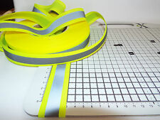 1m - Sew on - 30mm Visibility, Reflective Tape  - Bright Yellow