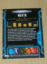 2013 Topps Star Wars Galactic Files Series 2 BLUE parallel Watto #411 350/350