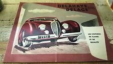 1951 DELAHAYE & DELAGE   Orig Sales Brochure VERY RARE