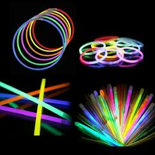 "100 8"" Glow Sticks Bracelets Neon Light Colors Party Favors Raves EDC"