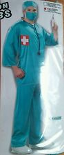 New Plus Size Surgeon Doctor Scrubs Halloween Costume Mens Womens Unisex Adult
