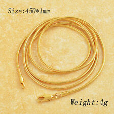 Mens womens 18K Gold filled long vintage Necklace jewelry Statement jewellery