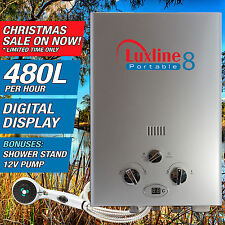 Luxline Portable 8 instant LPG gas hot water heater outdoor camping caravan 4WD