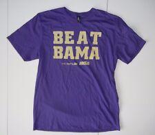 """BEAT BAMA"" Washington Huskies Alabama Crimson Tide UW FOOTBALL T-SHIRT Size XL"