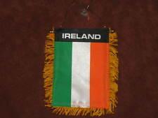 "IRELAND FLAG MINI BANNER 4""x6"" CAR WINDOW MIRROR IRISH"