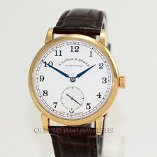 A Lange & Sohne 1815 Ref 235.032 Silver Dial 18K Rose Gold Box Papers