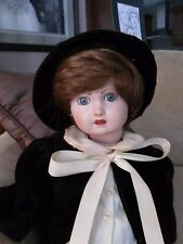 "Vintage 1987 All Porcelain Doll Handmade By OML Totally Jointed 22"" Tall"