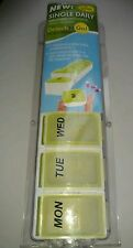 Pill Box 7 Day Detach N Go Storage Organizer  Medication Medicine  New Sealed