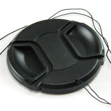 67mm Center Pinch Snap On Front Lens Cap Cover For Camera Camcorder with string